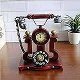 ZHQHYQHHX Decoraciones para el hogar Retro Teléfono Modelo Adornos hechos a mano para el hogar Muebles suaves Accesorios para fotografía (L * W * H) 16 * 18 * 33cm Adornos
