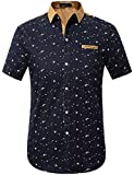 SSLR Men's Printed Button Down Casual Short Sleeve Cotton Shirts...