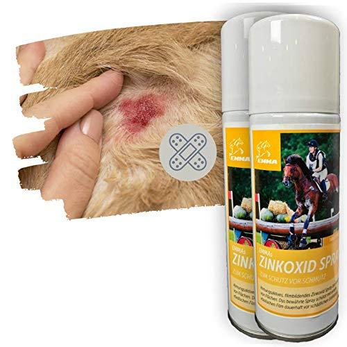 Emma - Spray de óxido de zinc para heridas de perro, animal, gato, etc., aerosol para heridas y heridas, transpirable, 2 x 200 ml