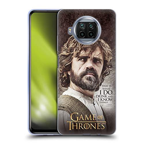 Head Case Designs Ufficiale HBO Game of Thrones Tyrion Lannister Citazioni dei Personaggi Cover in Morbido Gel Compatibile con Xiaomi Mi 10T Lite 5G