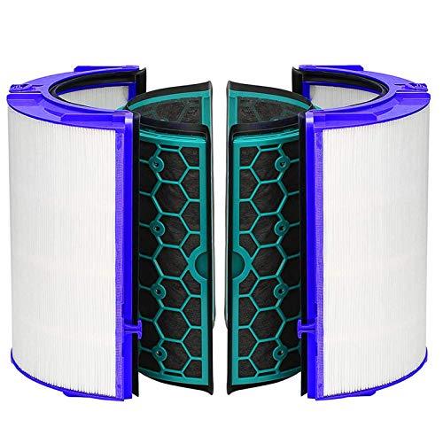 Tongdejing Juego de filtros Hepa de repuesto y carbón activo, sistema de filtro de 360 ° para purificador de aire Dyson TP04 TP05 HP04 HP05 DP04 para ventilador Dyson Pure Cool Purifying