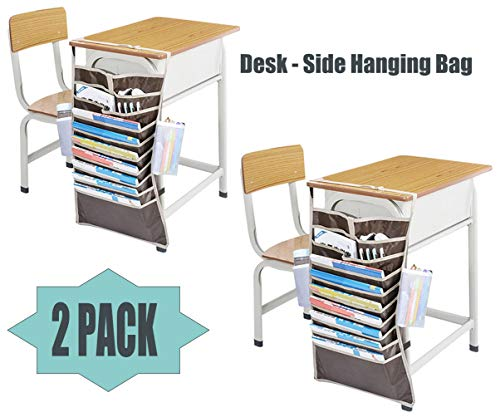 Organizador de escritorio para libros, libros, bolígrafos, tamaño grande, de Oxford, para 12 bolsillos, bolsa de almacenamiento