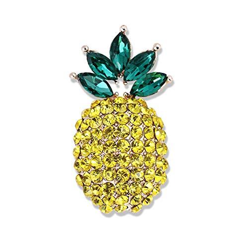 AILUOR Joyería de Moda Unisex cristalino de Oro de Frutas Tropicales Esmalte Amarillo Pin de la Solapa Ajustable