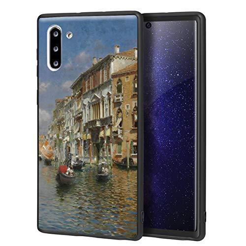 Berkin Arts Rubens Santoro für Samsung Galaxy Note 10 Hülle/Kunst Handyhülle/Giclée UV Druck auf der Handyabdeckung(Gondolas On Das Grand Kanal Venedig)