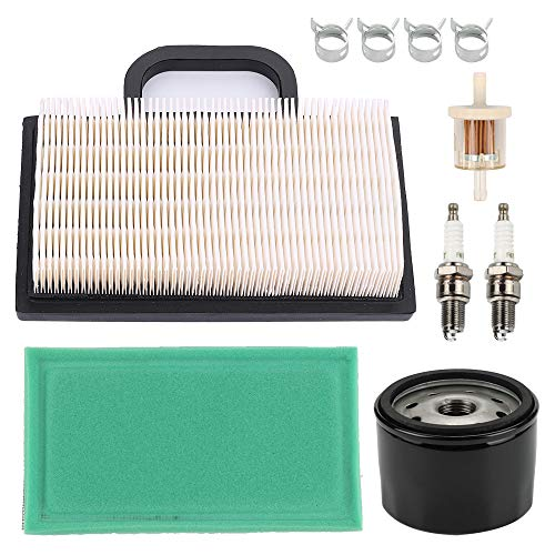 HONEYRAIN 698754 499486 Air Filter Kit for BS 8hp to 26hp Intek V-Twin Engines JD MIU11286 GY21056 GY20575 D140 Z245 Craftsman GT5000 GT3000 DYS4500 YS4500 LT1022 1022 LT1024 1024 GT1222 Lawn Mower