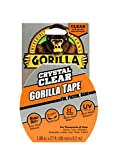 "Gorilla Crystal Clear Duct Tape, 1.88"" x 9 yd, Clear"