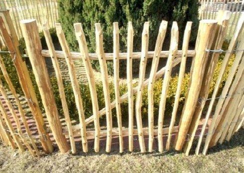 Kastanjehout hekwerk poort ingang -grootte 90cm (H) x 120cm (B)