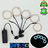 EL Wire Kit 5 by 1Meter,Neon EL Wire kit,Neon Light Wire,Glowing Wire,EL Wire with Battery Pack for Parties,Halloween,Christmas,DIY Decoration