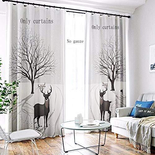 WBXZAL-Rideaux Le Modèle Nordique Moderne Les Plats Finis Simples Rideaux Landing Fenêtre Écran Salon Chambre,190,À