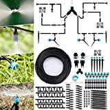 Jeteven Kit d'irrigation Goutte, 40M Kit Micro Irrigation Goutte à Goutte Jardin Système d'Arrosage Micro Flow Automatique Automatique pour Jardin, Pelouse, Plante, Paysage, Potager, Serre