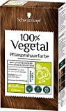 SCHWARZKOPF 100% VEGETAL Coloration, Haarfarbe Mittelbraun Stufe 3, 3er Pack (3 x 80 ml)