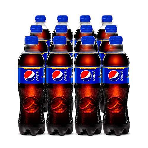 Pepsi Regular, Refresco De Sabor Cola, Pet De 500 Mililitros. Paquete De 12