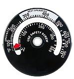 Tomerry 最新版 マグネット式 ストーブ温度計 薪ストーブ ピザ窯 0度~500度まで計測