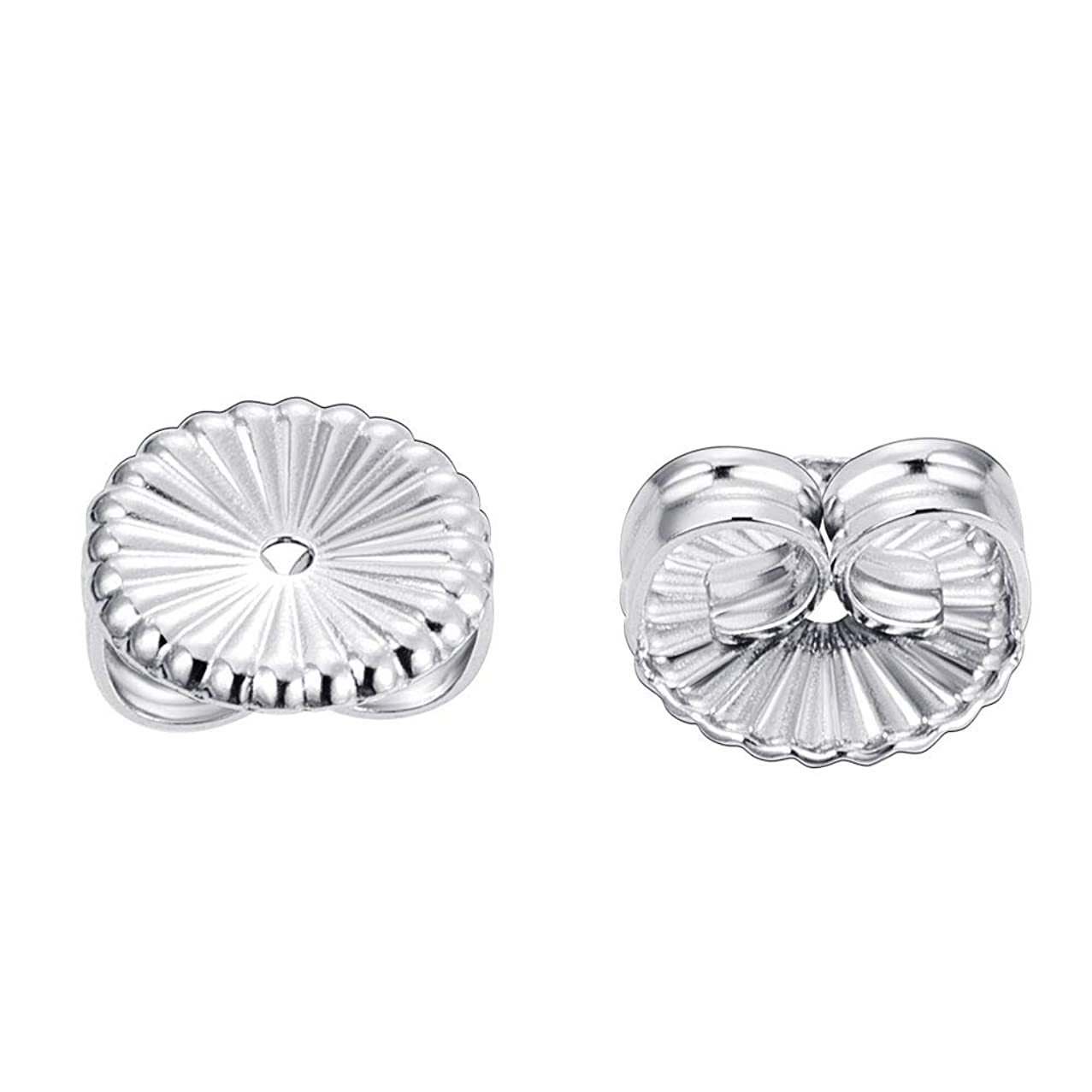 BENECREAT 3 Pairs Swirl Shape 925 Sterling Silver Replacement Earring Backs Stopper for Jewelry Findings(5.5x6.5x3.5mm)