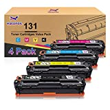 HaloFox Compatible Toner Cartridge Replacement for Canon 131 imageClass MF624Cw MF628Cw MF8230Cn MF8280Cw LBP7100Cn for HP 131A 131X (Black, Cyan, Yellow, Magenta, 4-Pack)