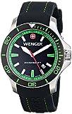 Wenger Men's 01.0641.108 Sea Force 3H Analog Display Swiss Quartz Black Watch