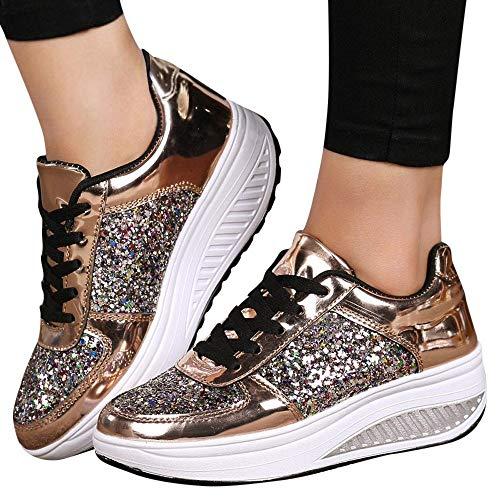 Alaso Chaussures de bowling pour Femme Or 6