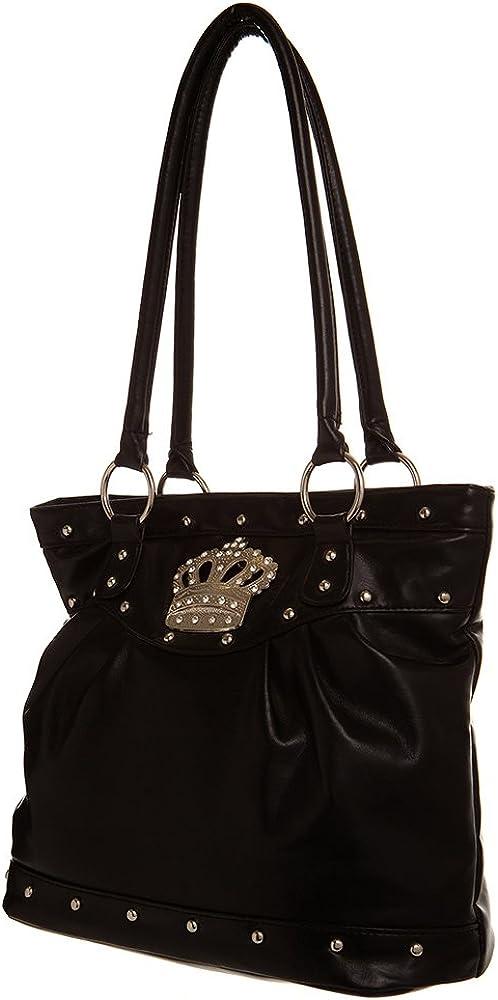 Large Crown Inspired Tote women handbag Shoulder Handbag by Handbags For All
