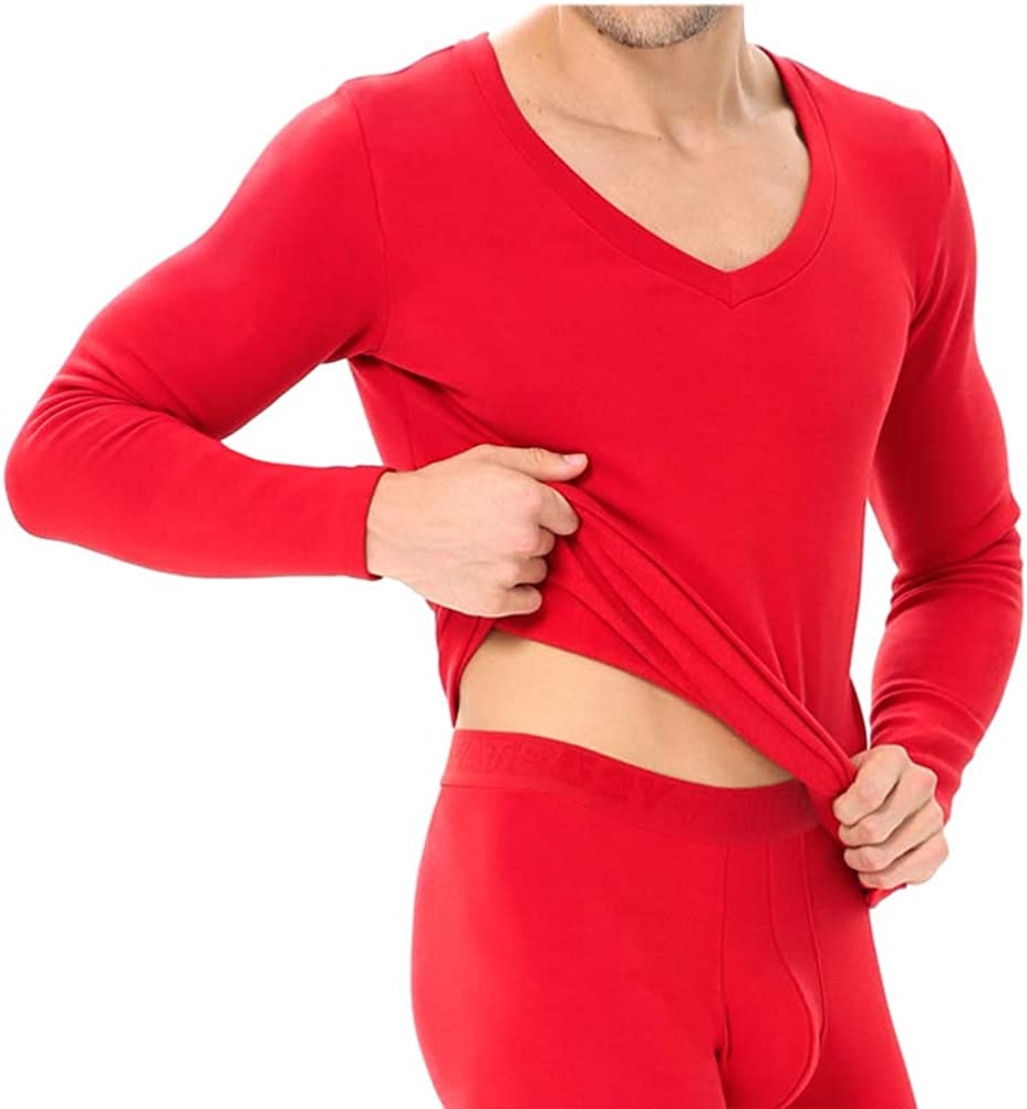 Thermal Underwear for Men Fleece Lined Top and Bottom Base Layer Ultra Soft Long John Set