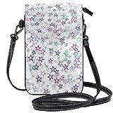 XCNGG bolso del teléfono Shinny Stars Pattern Cell Phone Purse Wallet for Women Girl Small Crossbody Purse Bags