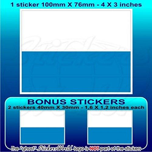 San Marino Drapeau civil SAINT-MARINAIS 10,2 cm Bumper Sticker en vinyle (100 mm), en x1 + 2 Bonus