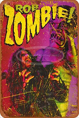 Generic Brands ROB Zombie Zinn Wandschild Plakette kreative Poster hochwertige Wanddekoration Malerei Vintage Metallmalerei Vintage Türschild