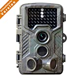 HD 1080P 12MP Game and Trail camera for Deer Hunting , No Glow Infrared Scouting Camera Night Vision...