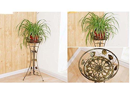 FZN Fer Jardinière de démonter Le Plancher Salle de réunion Balcon Art européen des Pots de Plantes d'araignée en tête Pots de Fleurs (Couleur : Brass, Taille : 40 * 98)