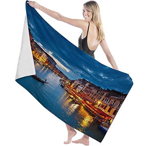 Toalla Beach Towels Toallas Shower Towels Bathroom Towels Paisaje de noche de Italia de nubes oscuras,130CM X80CM