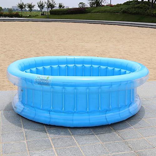 SHARESUN Familie aufblasbaren Swimming-Pool, 130 * 45 cm Full-Size Aufblasbarer Lounge Pool Geeignet für 2-4 Aufblasbare Pools für Kinder,Blau
