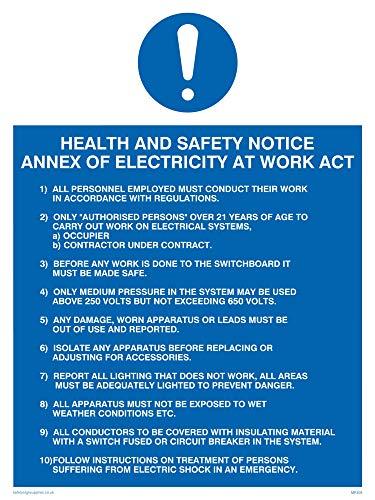 Viking signos mp308-a3p-v salud y aviso de seguridad anexo de electricidad en...