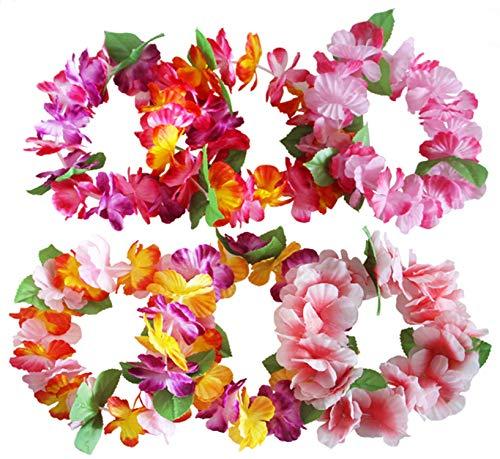 Hawaiana Hawai Flores Leis Guirnalda Tropical Diadema Ruffled Flores Leis Kit Hen...