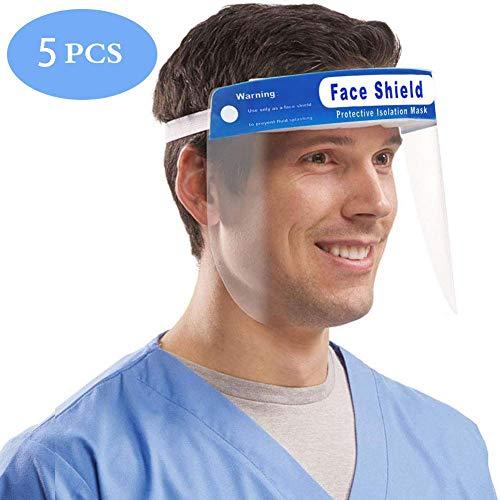 XXZ Face Shield Einweg Safety Shield Schutz der Augen und Gesicht vor Viren Gefahren im Zusammenhang mit Schutzmaßnahmen in klarem Film Gummiband und Komfort-Schwamm