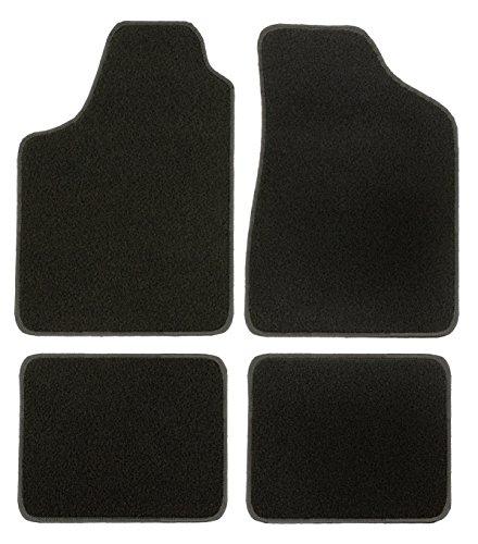 CaTex 30201850100NG LUX Teppich zugeschnitten, schwarz/grau, Set von 4
