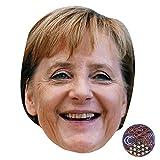 Celebrity Cutouts Angela Merkel (Smiling) Maske aus Karton