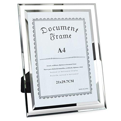 Giftgarden Cornici per Foto Formato A4 in Vetro 21 x 29.7 cm Colore Trasparente