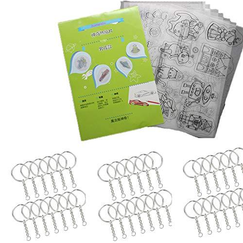 BESTZY 28pcs Transparente mate Shrinky dinks Placas Retráctiles Plastico magico imprimible