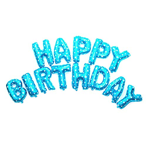guantongda Mode Gelukkige Verjaardag Ballon Banner Bunting Zelf Opblazen Letters Folie Ballonnen Partij voor Home Decoratie