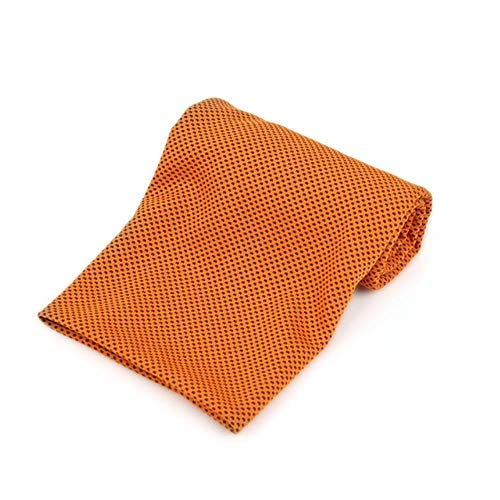 LASISZ Multicolor Sports Face Towel Cooling Ice Utility Enduring Instant Cozy Ice Cold for Enduring Running Jogging Gym 90 * 30cm,Orange