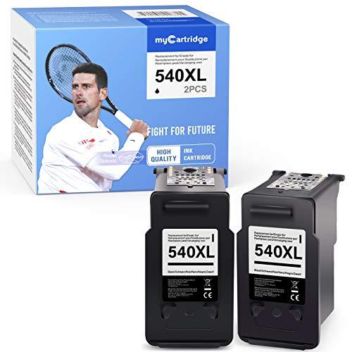 MyCartridge Compatible Canon PG-540XL 540 XL Cartuchos de Tinta para Canon PIXMA TS5150 TS5151 MX395 MX475 MG2150 MG2250 MG3150 MG4150 MG4250(2 x Negro)