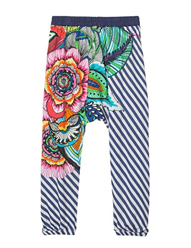 Desigual Mädchen Girl Woven Turkish Trousers (Pant_Dusky) Hose, Blau (Navy 5000), 140 (Herstellergröße: 9/10)