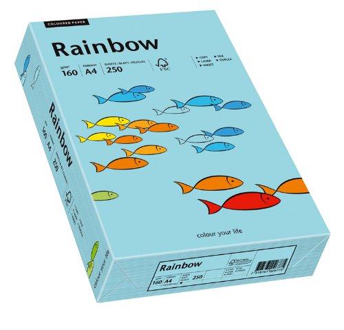 Papyrus 88042725 Drucker-/Kopierpapier farbig, Bastelpapier: Rainbow 160 g/m², A4, 250 Blatt Buntpapier, mittelblau