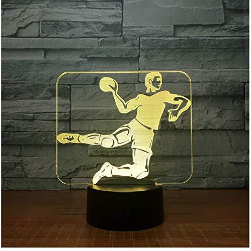 XINGXIAOYU Handball 3D Led Lampe 7 Farbe Nachtlampen Für Kinder Touch USB Tischlampe Lampe Baby Schlaf Nachtlicht Zimmer Lampe