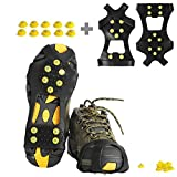 willceal Ice Cleats, Ice Grippers Traction Cleats Shoes and Boots Rubber Snow Shoe Spikes Crampons with 10...