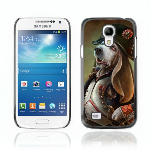 CelebrityCase Polycarbonate Hard Back Case Cover for Samsung Galaxy S4 MINI ( Funny Admiral Dog Illustration )