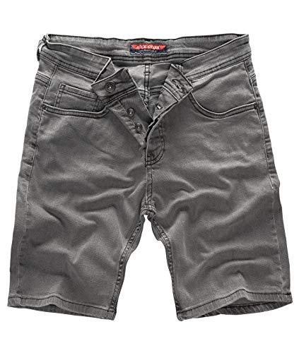 Rock Creek - Pantalones cortos para hombre, vaqueros, elásticos, para verano,...