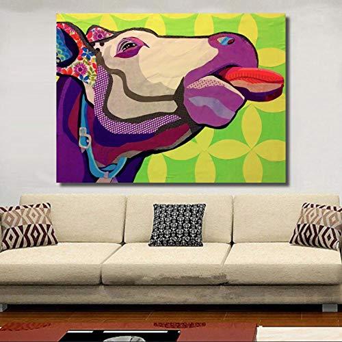 kldfig Impresión Abstracta sobre Lienzo Pinturas para Sala de Estar Cabeza de...