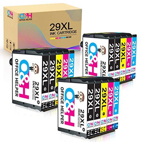 OFFICE HELPER Reemplazo de Cartucho de Tinta Compatible para Epson 29XL for Epson Expression Home XP-235 XP-245 XP-247 XP-330 XP-332 XP-335 XP-342 XP-345 XP-430 XP-432 XP-435 (15 Paquete)