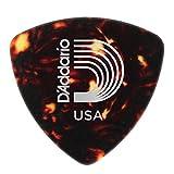 D'Addario Shell-Color Celluloid Guitar Picks, 10 pack, Medium, Wide Shape
