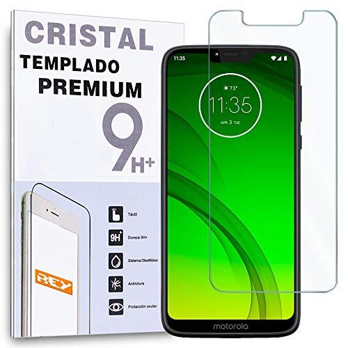 REY Protector de Pantalla para Motorola Moto G7 Power, Cristal Vidrio Templado Premium